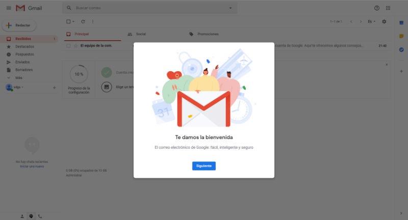 Bienvenida a gmail