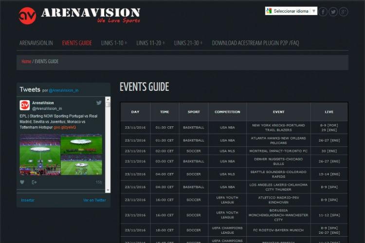 ¿Cuáles son las mejores alternativas a Arenavision para ver deporte online?