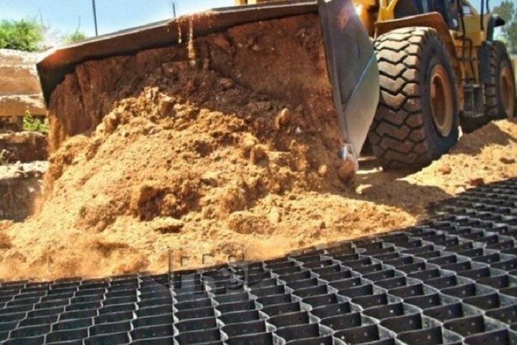 Geoceldas para la construcción de muros de contención